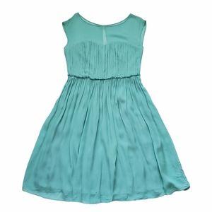 Boden Eva Dress Flowy Cocktail 10 Teal Green Blue